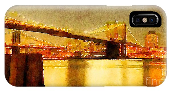 Water Color New York City Scene Phone Case by Trentemoller