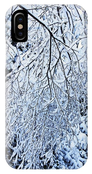 30/01/19  Rivington. Snow Covered Branches. IPhone Case