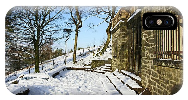 30/01/19  Rivington. Summerhouse In The Snow. IPhone Case
