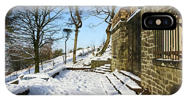 30/01/19  Rivington. Summerhouse In The Snow. IPhone Case