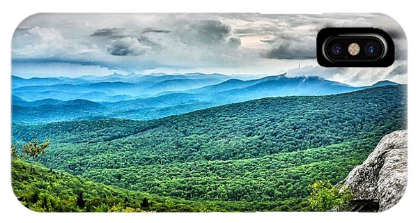 IPhone Case featuring the photograph Rough Ridge Overlook Viewing Area Off Blue Ridge Parkway Scenery by Alex Grichenko