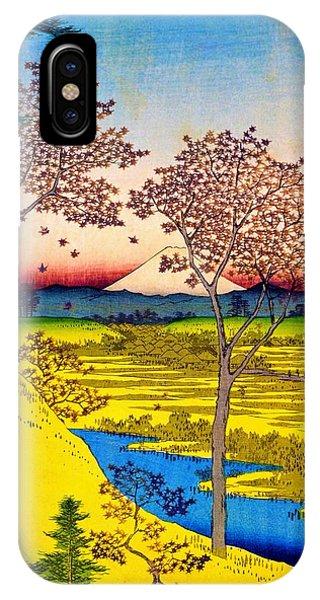 Tint iPhone Case - 36 Views Of Mt.fuji - Yuhigaoka In The Eastern Capital - Digital Remastered Edition by Utagawa Hiroshige