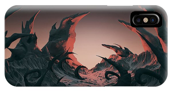 Fairy Tales iPhone Case - 3d Rendering Of Horror Landscape. Dry by Bug fish