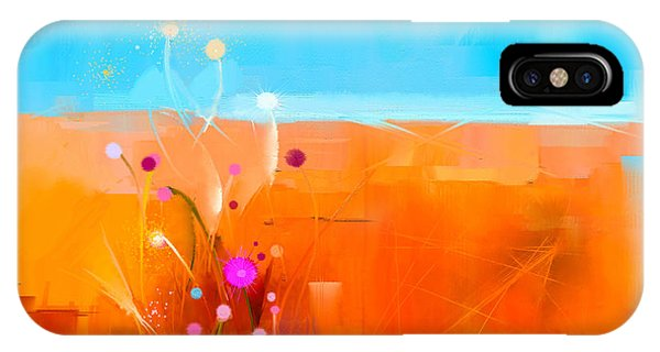 Modern iPhone Case - Abstract Colorful Oil Painting by Pluie r