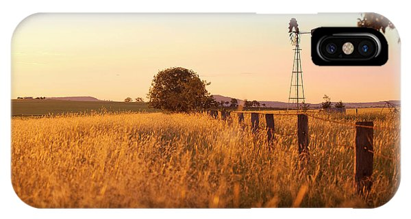 IPhone Case featuring the photograph Australian Windmill In The Countryside by Rob D