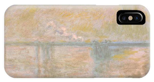Smoke Fantasy iPhone Case - Charing-cross Bridge In London -  by Claude Monet
