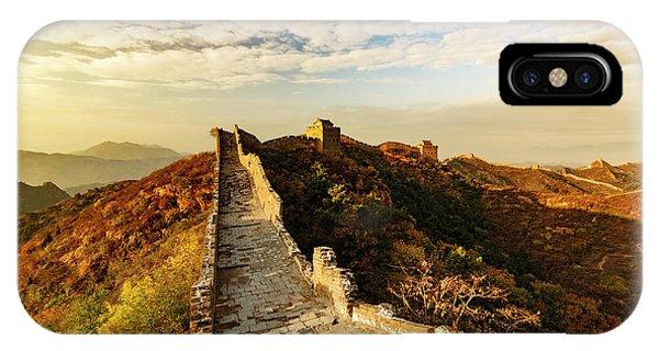 Great Wall Of China And Jinshanling Phone Case by Adam Jones