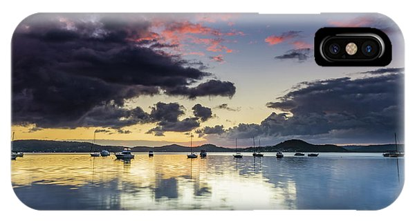 Overcast Morning On The Bay With Boats IPhone Case