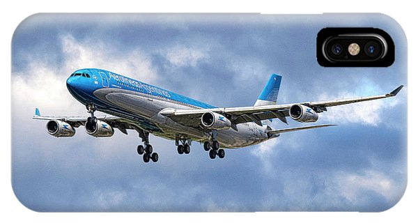 Argentina iPhone X Case - Aerolineas Argentinas Airbus A340-313 by Smart Aviation