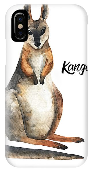 Zoology iPhone Case - Australian Animals Watercolor by Kat branches