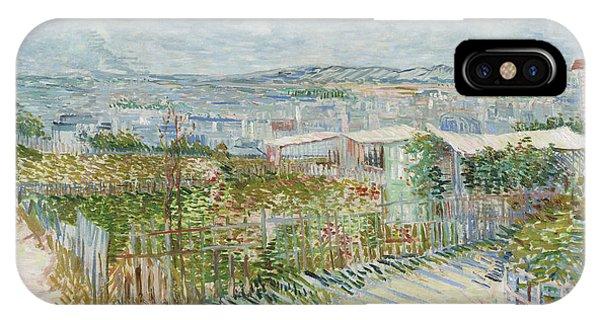 Van Gogh Museum iPhone Case - Montmartre - Behind The Moulin De La Galette by Vincent Van Gogh