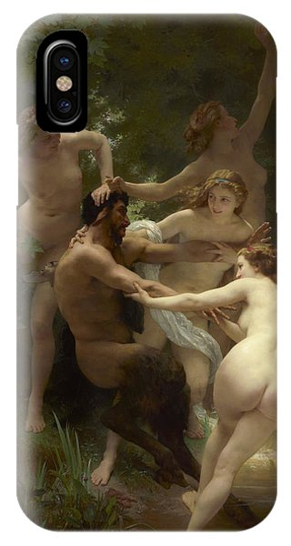 French Painter iPhone Case - Nymphs And Satyr by Xzendor7