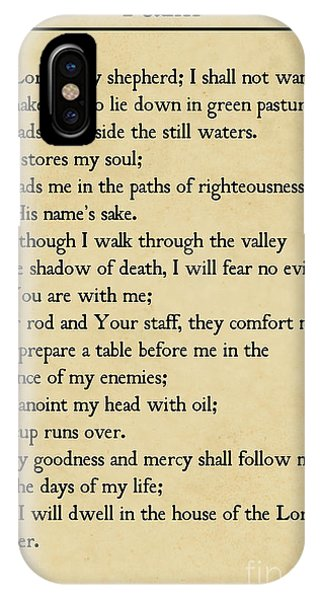 Psalm 23-bible Verse Wall Art Collection IPhone Case