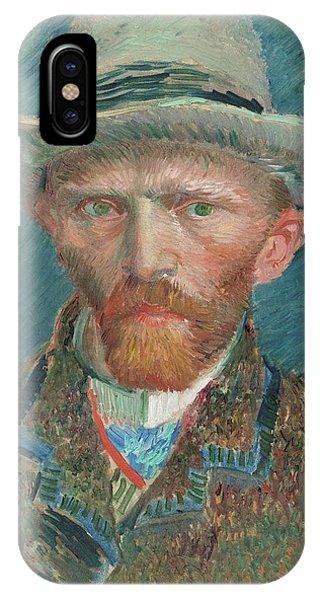 Van Gogh Museum iPhone Case - Self-portrait, 1887 by Vincent van Gogh