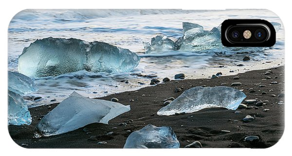 The Diamond Beach, Jokulsarlon, Iceland IPhone Case