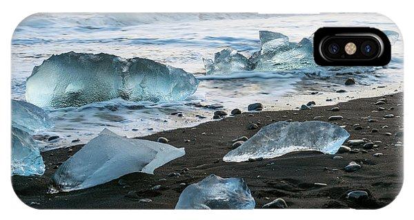 The Diamond Beach, Jokulsarlon, Iceland IPhone Case