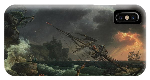 Damage iPhone Case - The Shipwreck by Claude-Joseph Vernet