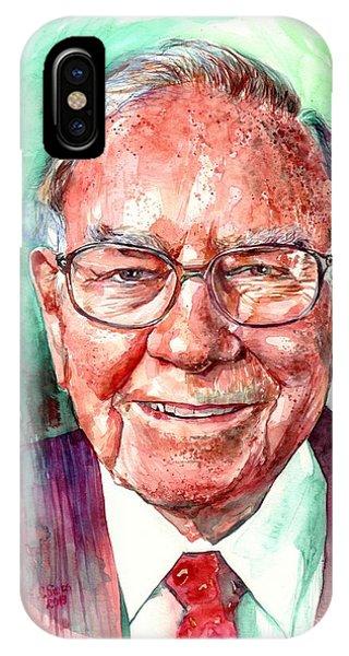 Growth iPhone Case - Warren Buffett Portrait by Suzann Sines