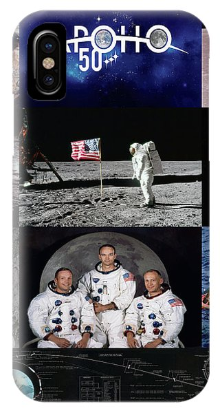 Uss Hornet iPhone Case - 50 Years Apollo 11 by Peter Chilelli