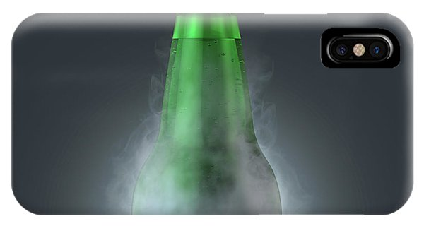 Frost Glass iPhone Case - Beer Bottle With Condensation by Allan Swart