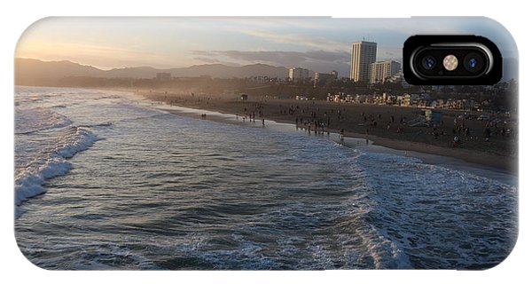 Pacific Sunset , Santa Monica, California IPhone Case