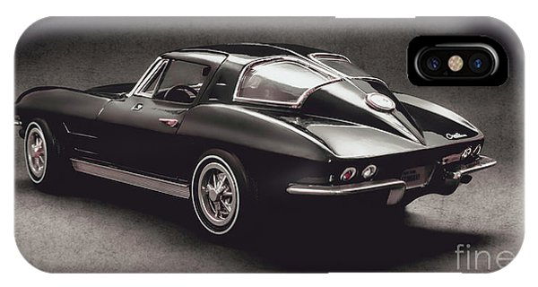 American Cars iPhone Case - 63 Chevrolet Corvette Stingray by Jorgo Photography - Wall Art Gallery