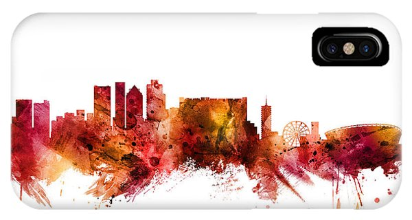 Town iPhone Case - Cape Town South Africa Skyline by Michael Tompsett