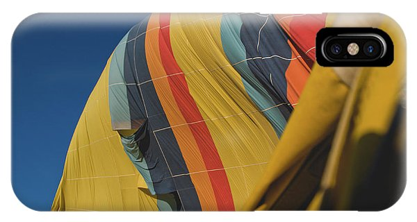 Colorful Balloons Flying Over Mountains And With Blue Sky IPhone Case