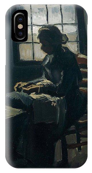 Van Gogh Museum iPhone Case - Woman Sewing by Vincent Van Gogh