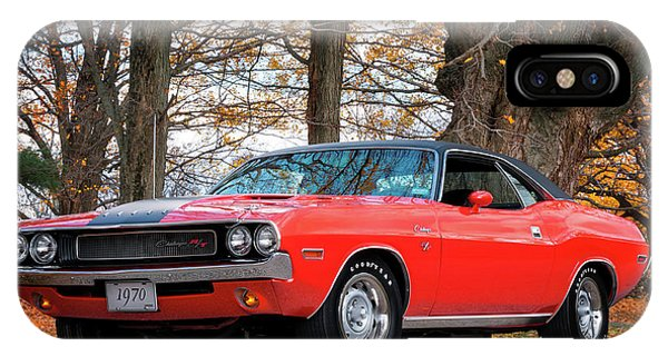 70 Dodge Challenger Rt - Driver Side IPhone Case