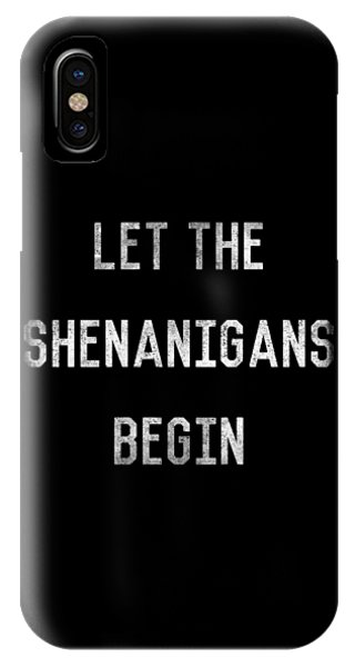St. Patricks Day iPhone Case - 7396 Let The Shenanigans Begin St Patricks by Flippin Sweet Gear