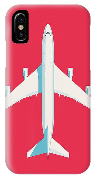Airline iPhone Case - 747 Jumbo Jet Airliner Aircraft - Crimson by Ivan Krpan