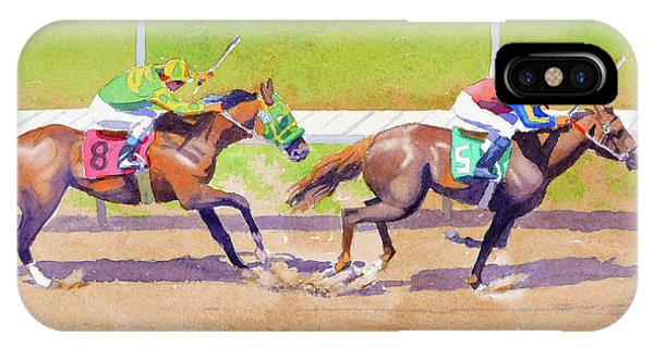 8 Chasing 5 At Del Mar IPhone Case