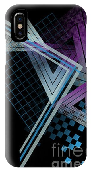Illusion iPhone Case - 80s Style Abstract Shapes by Tairy Greene
