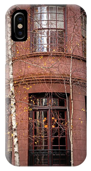 Brownstone iPhone Case - Brownstone And Birch  by Jessica Jenney