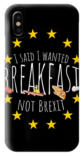 Leave iPhone Case - Funny Brexit Gift For Britains Eu Referendum Voters Antibrexit Campaigners by Martin Hicks
