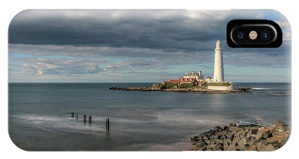 Tidal iPhone Case - St Mary's Lighthouse - England by Joana Kruse