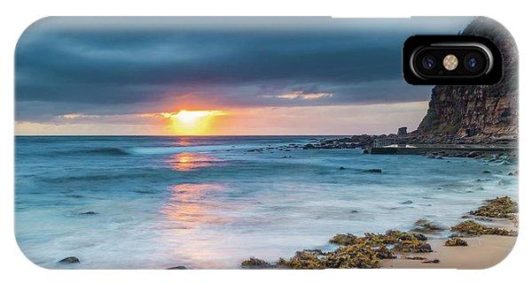 Sunrise Seascape And Cloudy Sky IPhone Case
