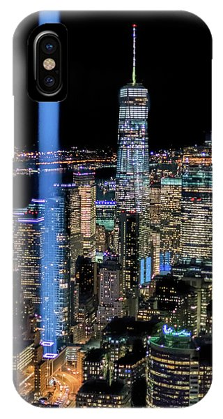 IPhone Case featuring the photograph 911 Lights by Francisco Gomez