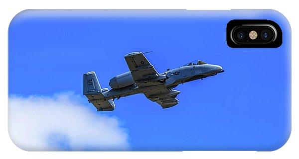 IPhone Case featuring the photograph A-10c Thunderbolt II In Flight by Doug Camara