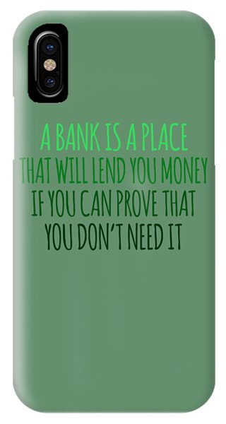A Bank IPhone Case