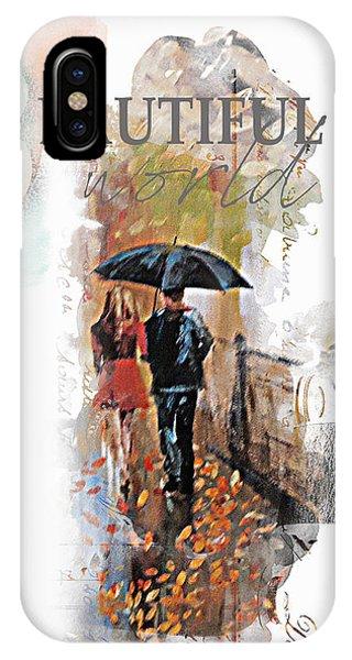 Purple Rain iPhone Case - A Beautiful World Part2 by Tim Palmer