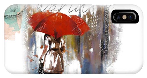 Purple Rain iPhone Case - A Beautiful World Part3 by Tim Palmer