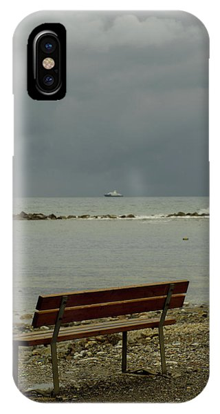 A Bench On Which To Expect, By The Sea IPhone Case