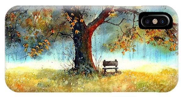Park Bench iPhone Case - A Bit Of Nostalgia by Suzann Sines