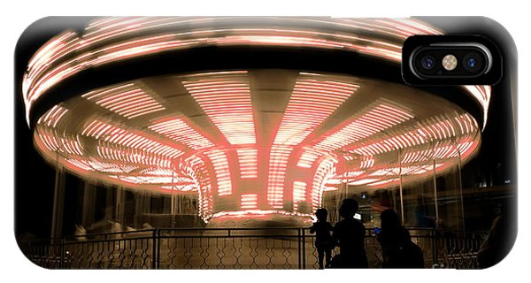 IPhone Case featuring the photograph A Carousel By Night by Yali Shi