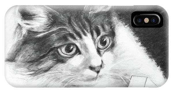 Lavender iPhone Case - A Cat Called Dobby by Lavender Liu