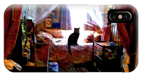 IPhone Case featuring the digital art A Cat's Favorite Spot by Joy McKenzie