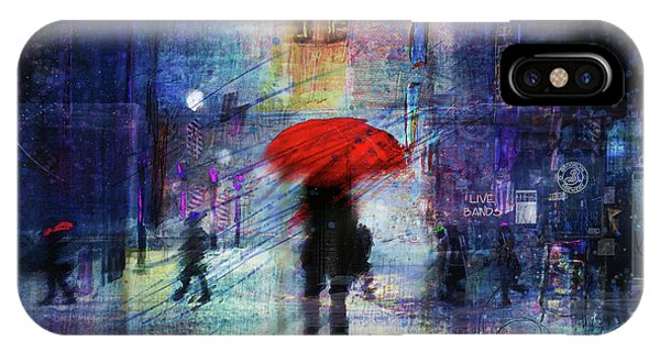 Purple Rain iPhone Case - A Christmas In The City by Tim Palmer