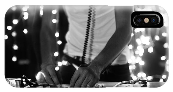 Needles iPhone Case - A Cool Male Dj On The Turntables by Dubassy